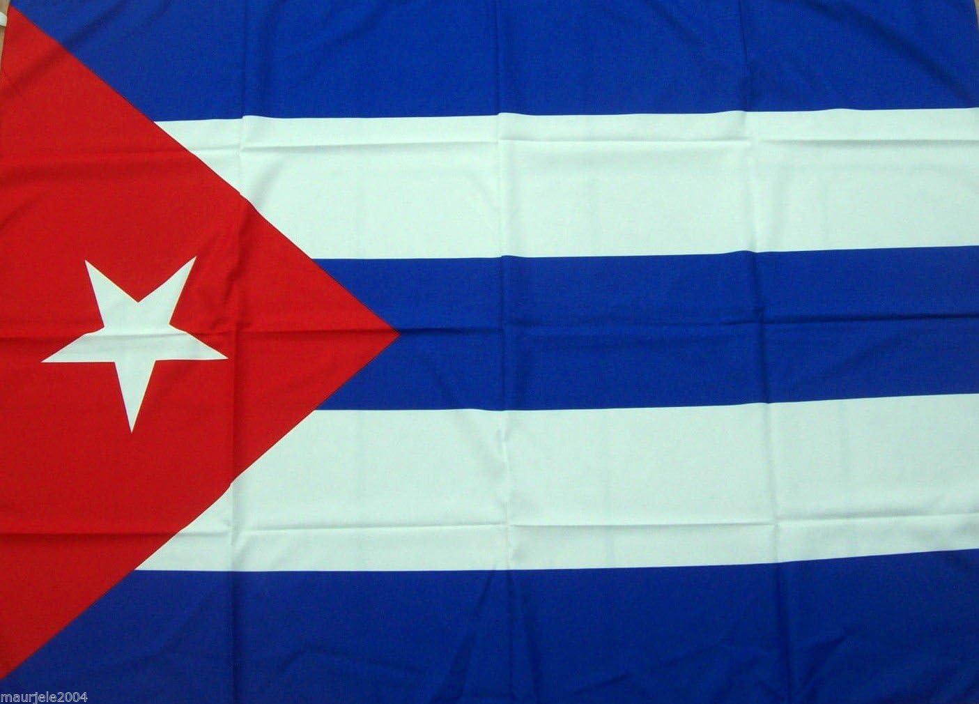 Bandera de Cuba, 90 x 140 cm, de 100 % poliéster, con cordones: Amazon.es: Deportes y aire libre