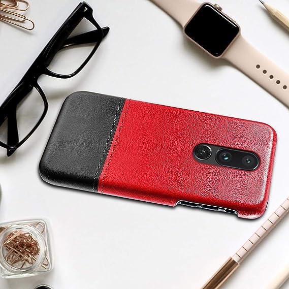 Amazon.com: OnePlus 7 Funda de piel auténtica de lujo con ...