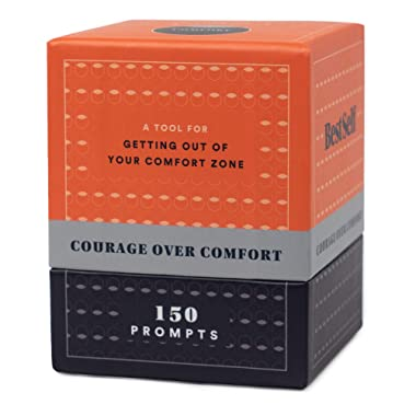 BestSelf Co. Courage Over Comfort Deck - A Tool to Help You Break Out of Your Comfort Zone and Thrive - 150 Prompts