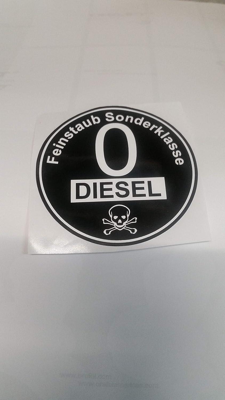 Stickerpoint24 Euro 0 Plakette Aufkleber Feinstaub Sonderklasse Diesel Umweltplakette Auto