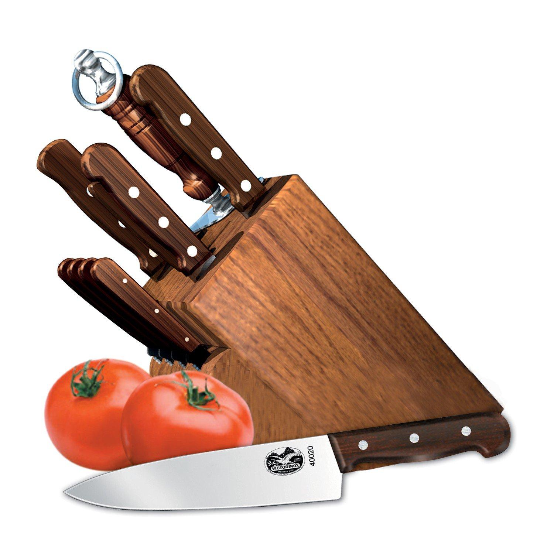 victorinox 8 piece knife block set ebay