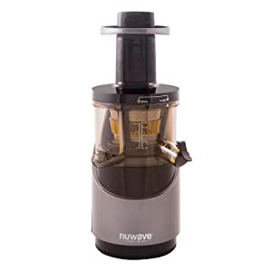 Nu Wave 27001 Nutri-Master Slow Juicer, 16 oz, Black/Silver