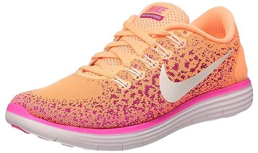 Nike Women's Free Run Distance Atomic Orange / White-Fierce Pink-Pink Blast  Ankle