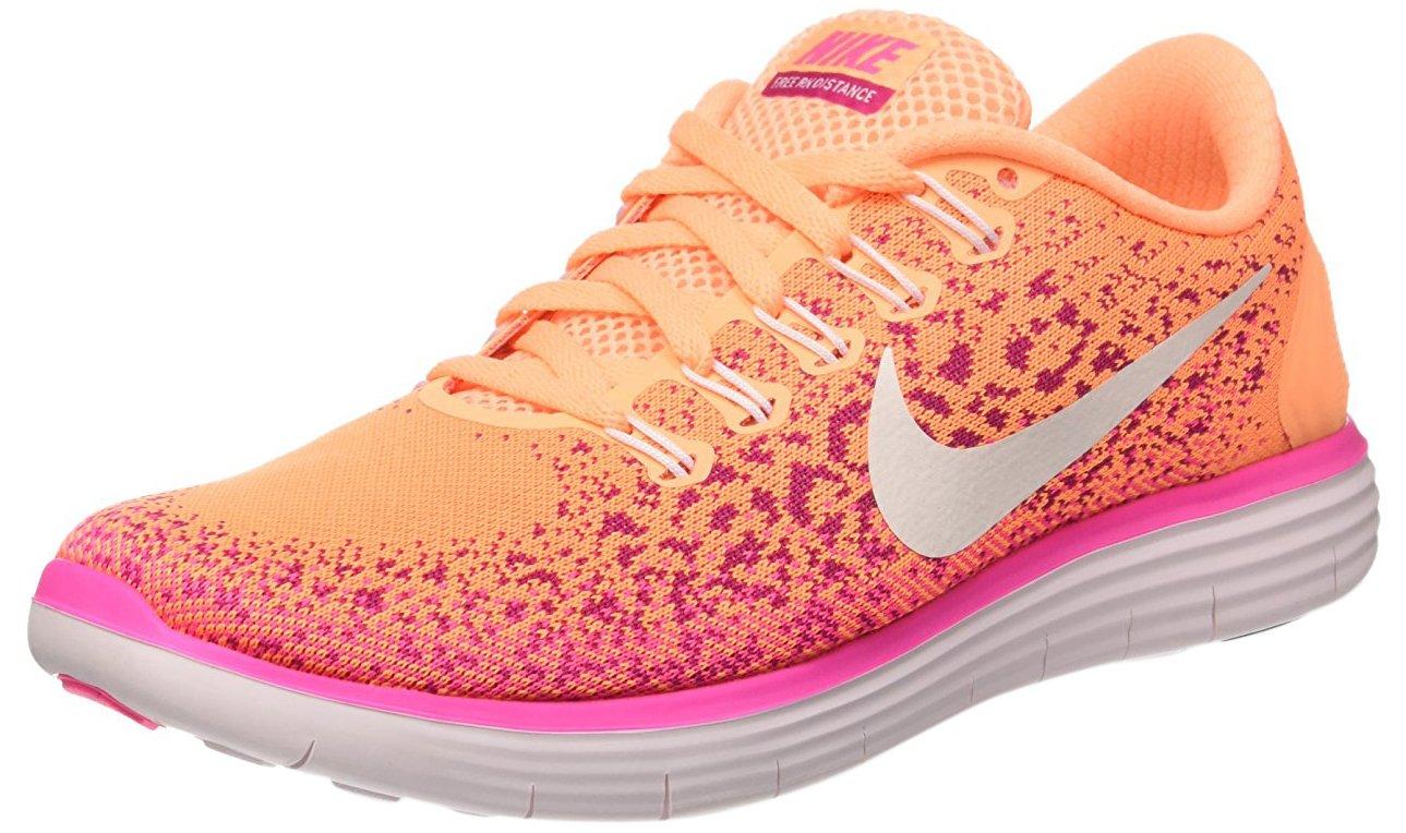the best attitude 8da5d 8a6cf Galleon - Nike Womens Free Rn Distance Atomic Orange White-Fire Pink-Pink  Blast Ankle-High Running Shoe - 10.5M