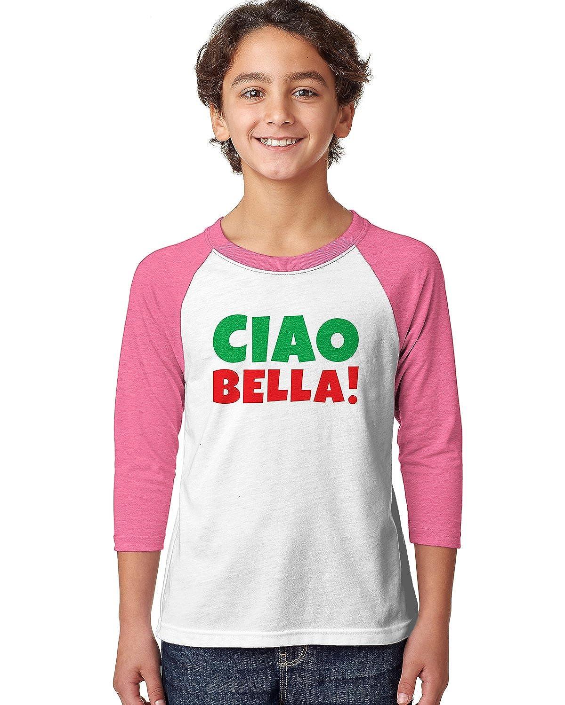 SpiritForged Apparel Ciao Bella Youth 3//4 Raglan Shirt