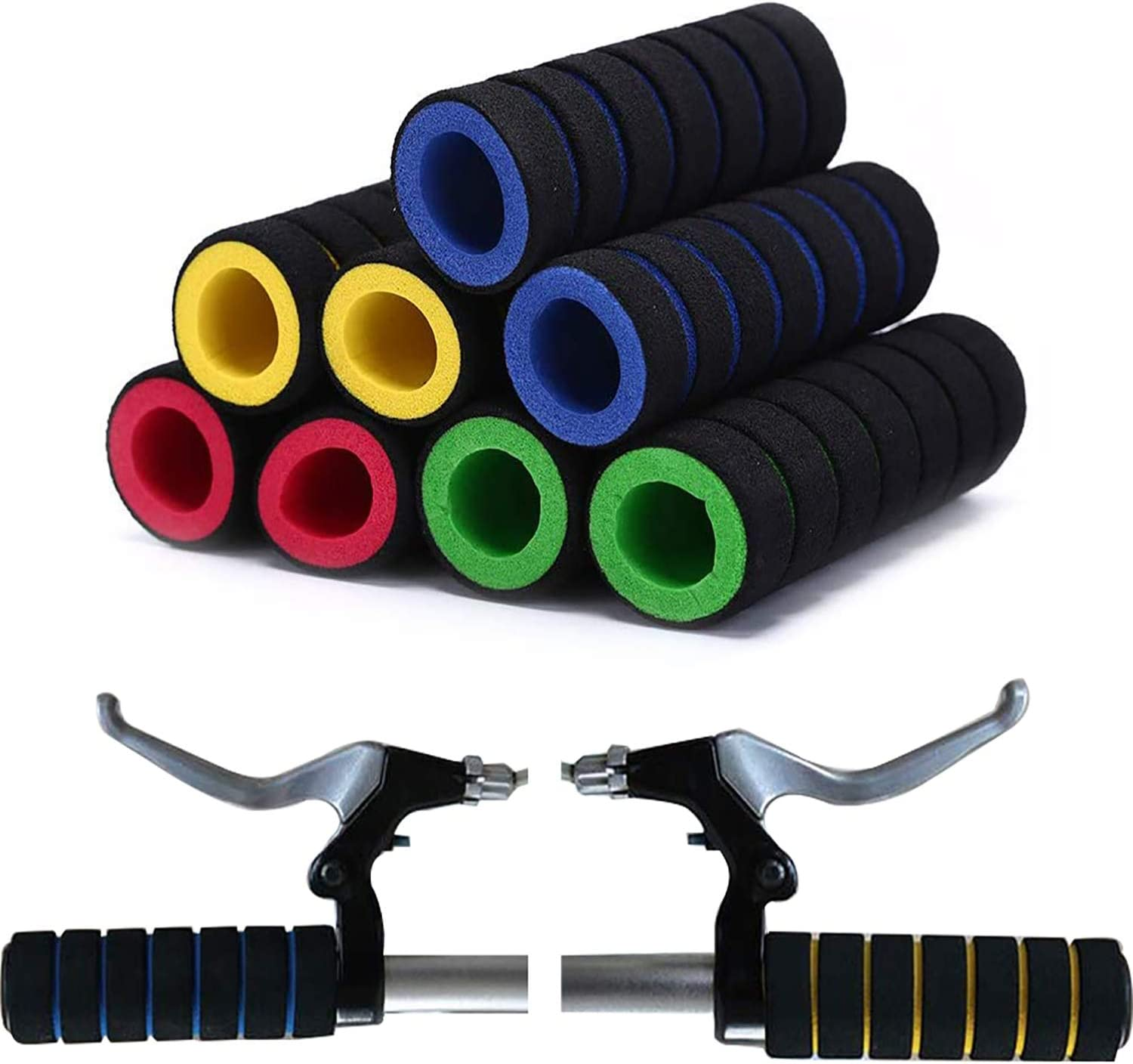Bicycle Bike Soft Foam Sponge Extra-Long Handlebar Grip//Cover Blue