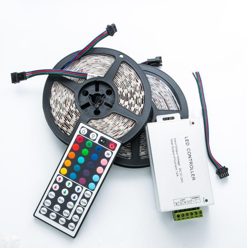 QUMOX 20m (2x 10m) RGB 5050 600 SMD LED Strip Leiste Streifen + 44 ...