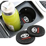 JDopption Car Logo Cup Holder Coaster Insert Cup Mat for Toyota Accessories Silicone (Toyota)
