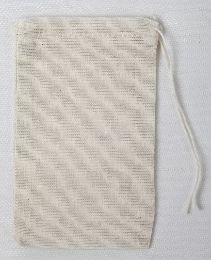 Natural Cotton Muslin Drawstring Bags 3x5 Inches (7x12 Cm) 1000 Count by Celestial Gifts