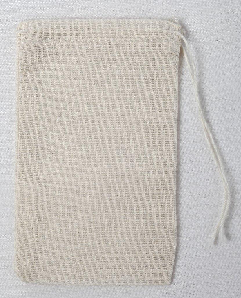 precios al por mayor Celestial Gifts Bolsos de cordón de muselina (algodón) 3X5 3X5 3X5 pulgadas/7X12 cm 100 piezas Natural