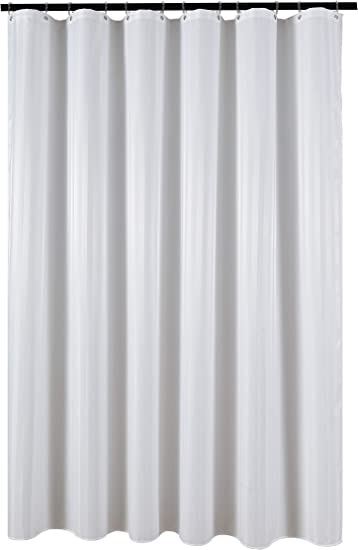 Fabric Shower Curtain Liner Water Resistant Damask Stripes Black 72 By 72 Inch