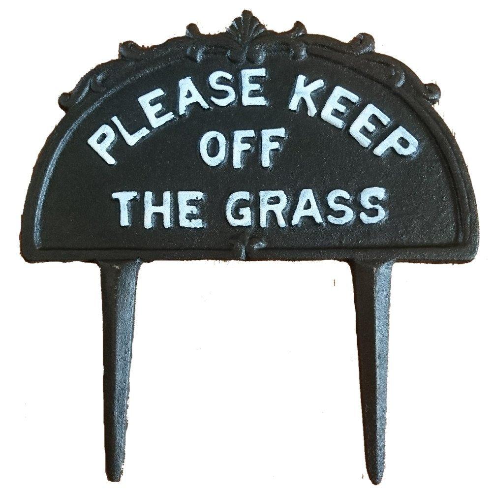 'Classic Cast Iron 'Please Keep Off The Grass' Sign' Asclon Design
