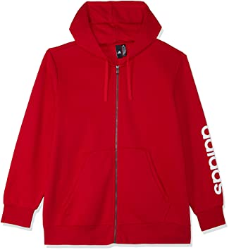 adidas Herren Essentials Linear Full Zip Hooded Kapuzen-Jacke, Scarlet, S 1a5337e730