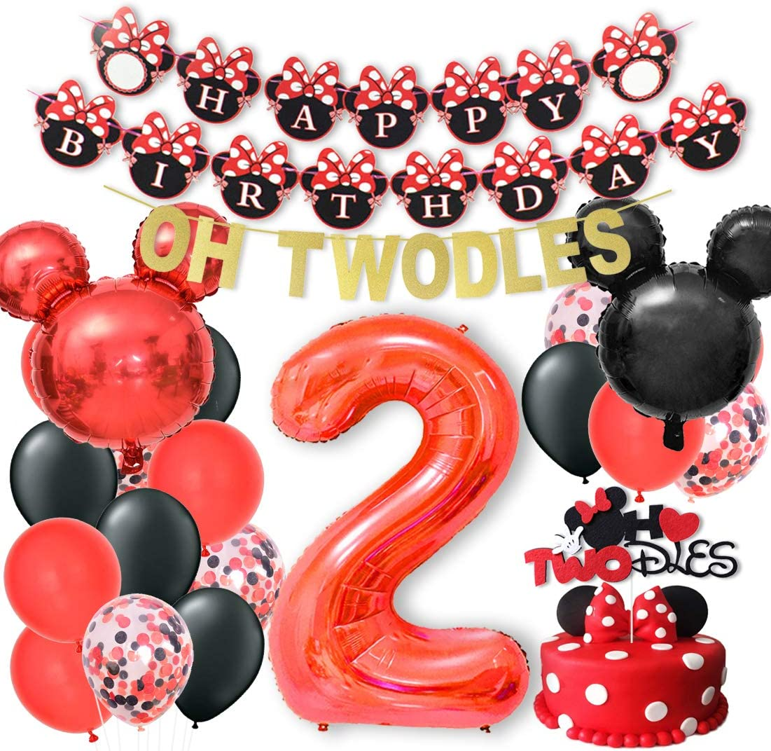 Double Sided Cake Topper Party Favor Photo Booth Props Party Supplies for Kids ANGOLIO Mickey Minnie Honeycomb Centerpieces 6 Pcs Table Topper for Birthday Party Decoration