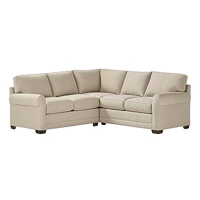 "Stone & Beam Kristin Performance Fabric Sectional Sofa, 93"" W, Sand"