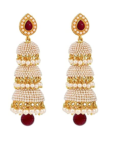 7a598ea23 Amazon.com: Royal Bling Bollywood Style Party Wear Traditional Indian  Jewelry Jhumki Jhumka Earrings for Women: Jewelry