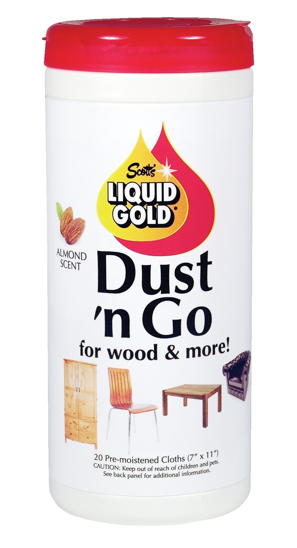 Scott's Liquid Gold 20 Count Dust 'N Go Cleaning Wipes For Wood & More