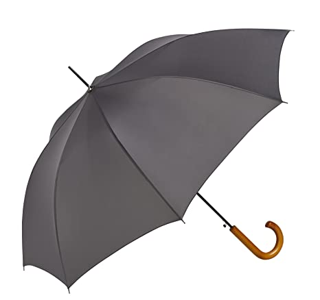604e13a1e061 ShedRain® Auto Open Traditional Stick Umbrella: Charcoal Gray