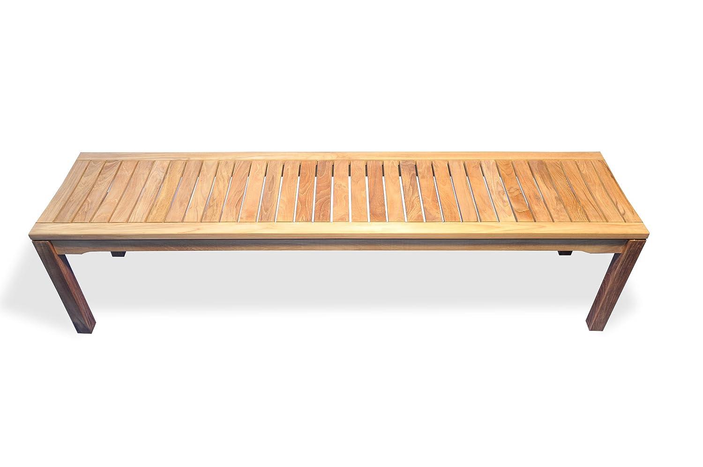 Amazon.com: Banco de madera de teca Backless 72