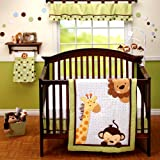 Little Bedding 3 Piece Comforter Set, Jungle Pals