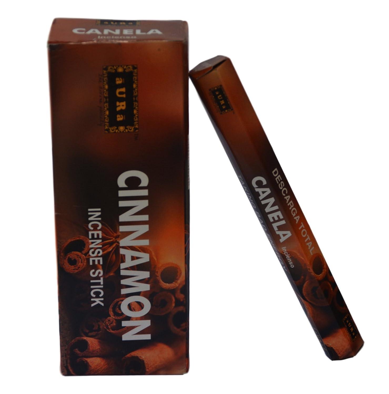 新素材新作 オーラCinnamon Scented オーラCinnamon Incense Sticks、プレミアム天然Incense B071PD59CX Sticks、六角packing- 120 Sticks 120 B071PD59CX, シガーダイレクト:a418ecc2 --- senas.4x4.lt