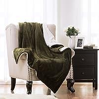 Deals on Bedsure Sherpa Throw 50x60 Bedding Fleece Reversible Blanket