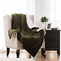 Bedsure Sherpa 50x60 Throw Blanket (Olive Green)