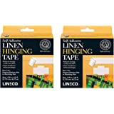 Lineco Self-Adhesive Linen Hinging Tape, Archival Quality Acid-Free Non-Yellowing  Pressure Application, 1.25 Inches x 150 Fe