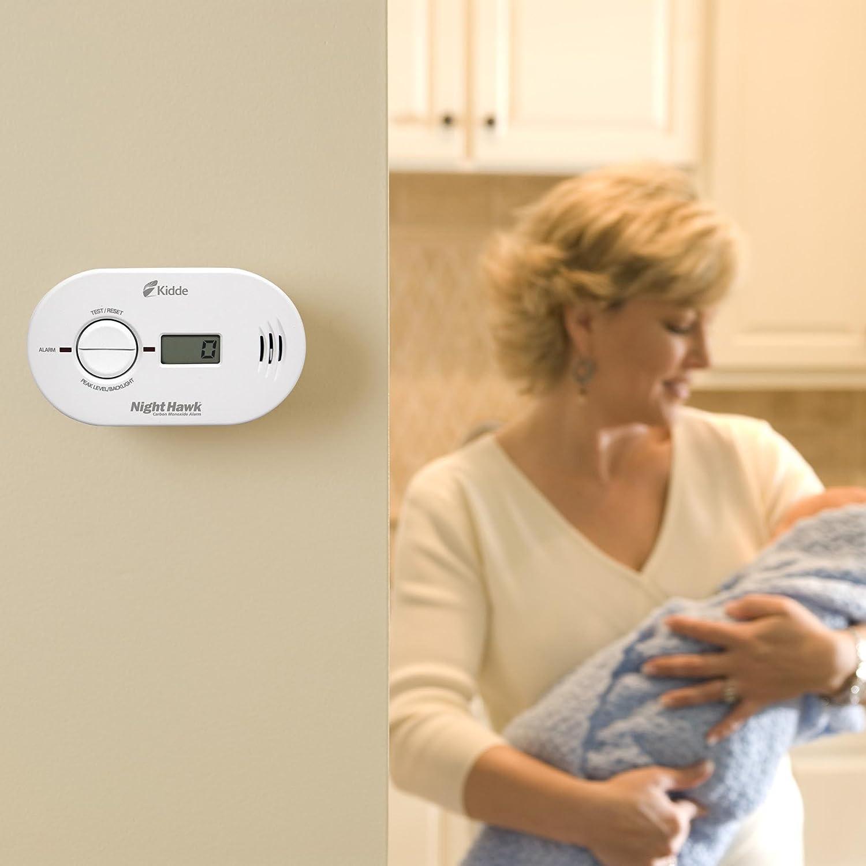 Kidde 21007267 Kn Copp B Ls 900 0230 Nighthawk Carbon Smoke Alarm Wiring Diagram Uk Monoxide Battery Operated With Digital Display Home Improvement
