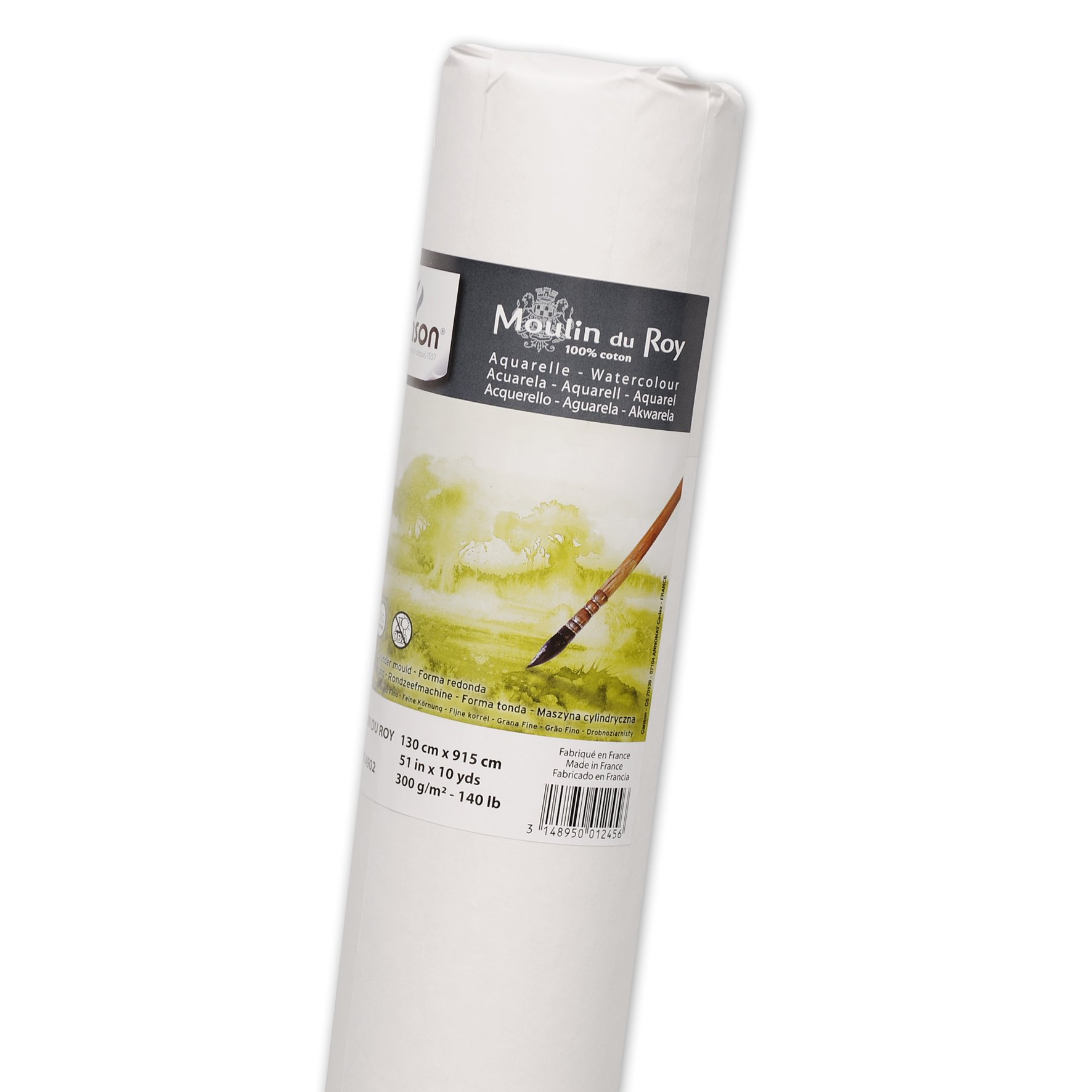 Canson Moulin Du Roy Watercolor Cold Press Paper, 140 Pound, 51 Inch x 10 Yard Roll by Canson