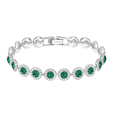 Image Unavailable. Image not available for. Color  Swarovski Emerald  Angelic Rhodium Plated Bracelet b8963c5a91