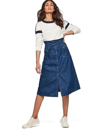 G-STAR RAW Tacoma Zip Paperbag Falda para Mujer: Amazon.es: Ropa y ...