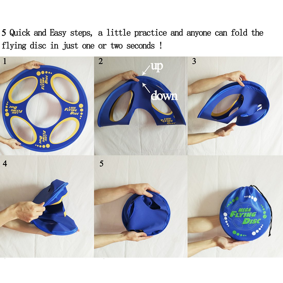 Folding Pocket Frisbee Flyer with Pouch by Hayes