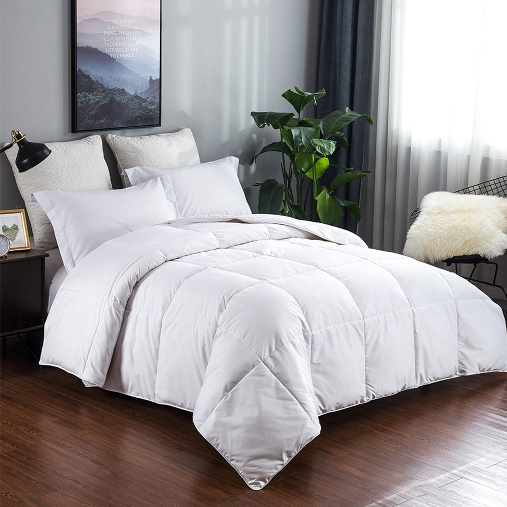 King Size Lightweight Warm Goose Down Comforter Winter Bedding