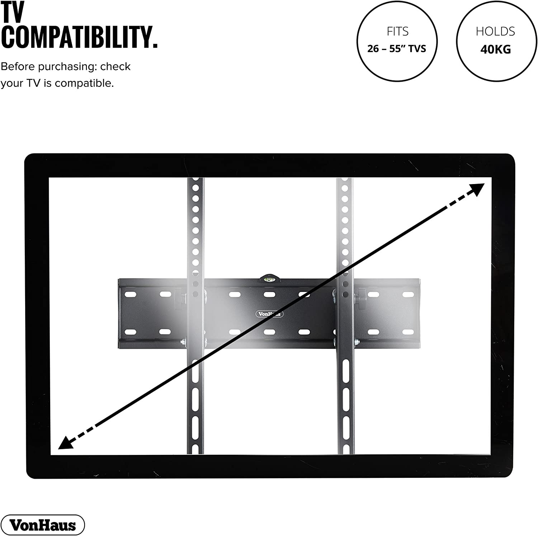 VonHaus Soporte de Pared de TV Inclinable de 26-55 Pulgadas (55-140cm): Amazon.es: Electrónica