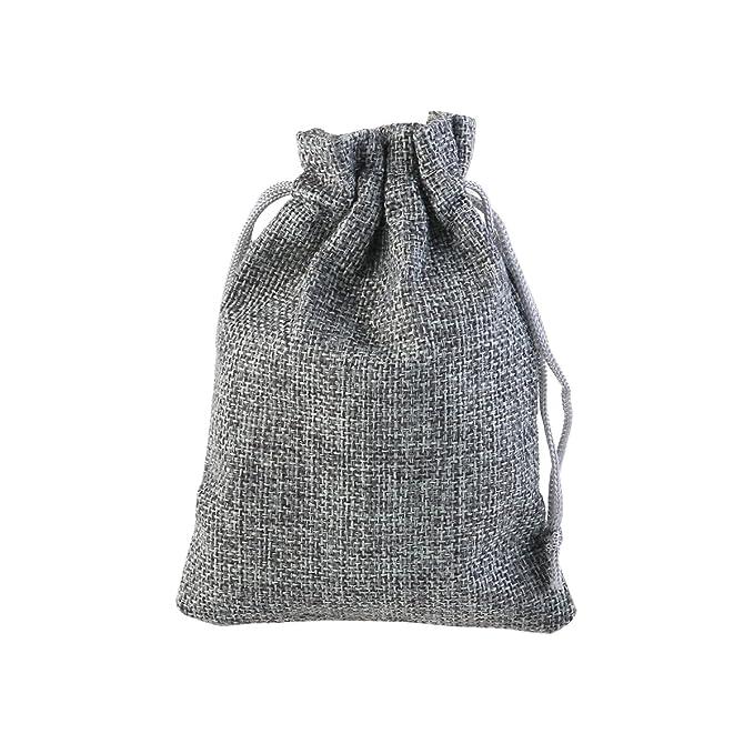 OULII 50pcs arpillera bolsa bolsa lazo regalo bolsas de ...