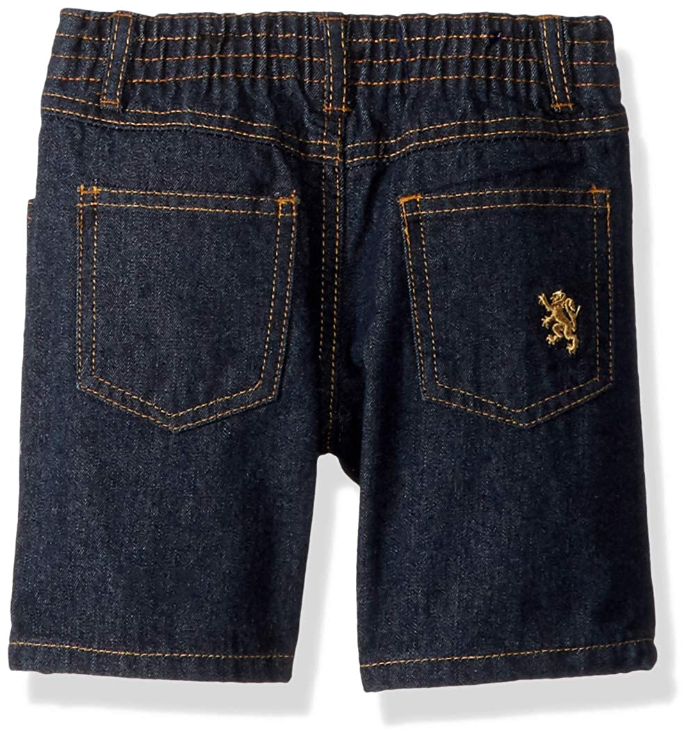 English Laundry Boys Long Sleeve Two Pocket Plaid Sport Shirt and Denim Short