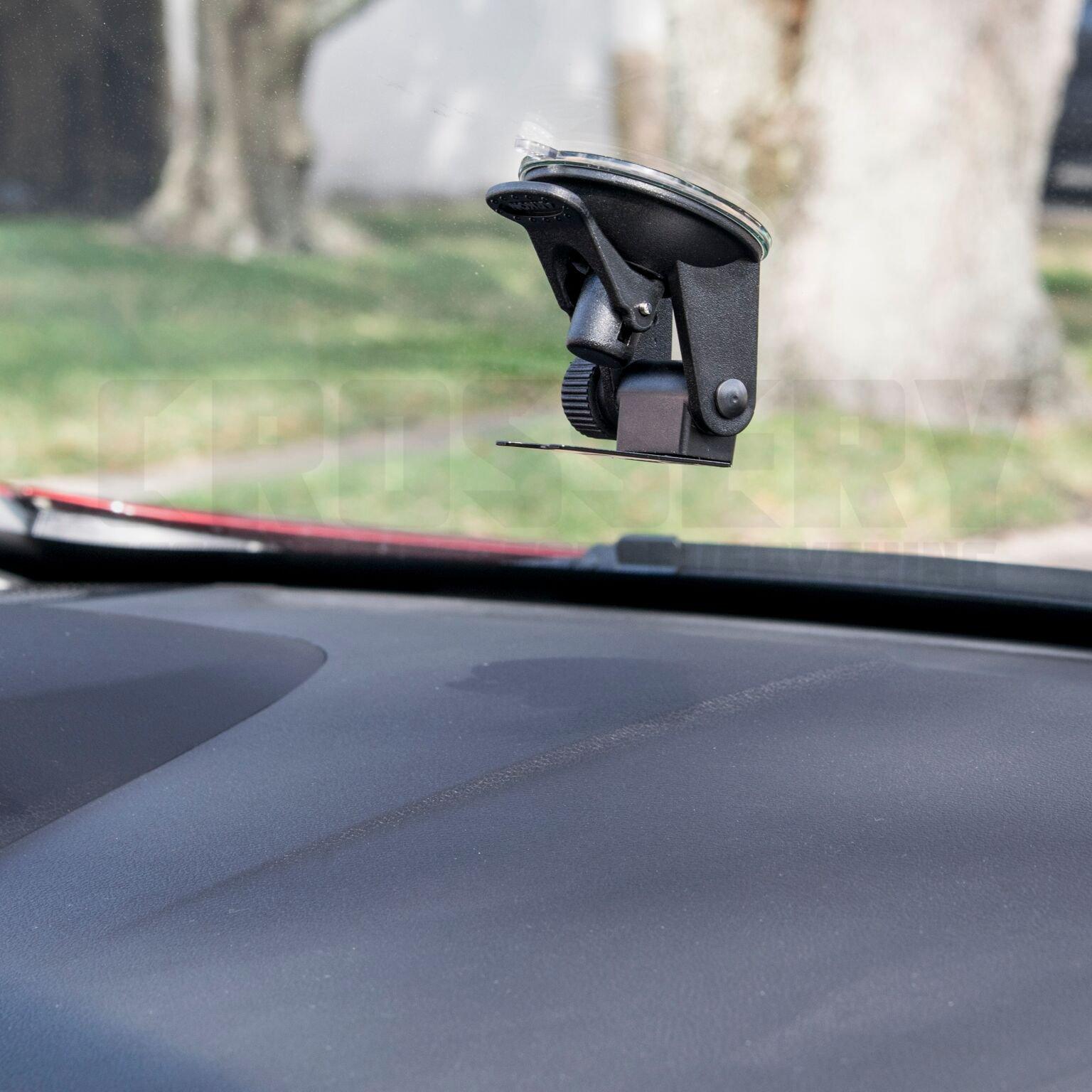 Car Radar Mount, Crossery Windshield & Dashboard Radar Detector Suction Mount for Escort Passport, Beltronics Vector & Rocky Mountain Phantom-T Radar Detectors, Easy To Install, Adjustable, Black by Crossery (Image #2)