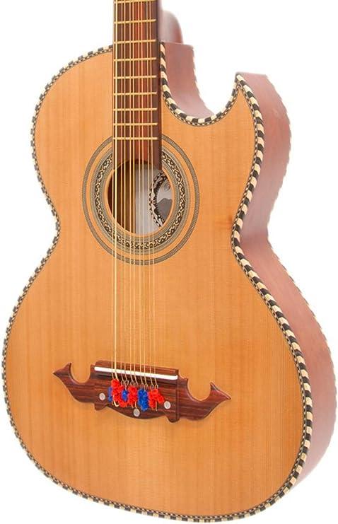 Paracho Elite Guitars Odessa-P - Guitarra acústica eléctrica (10 ...