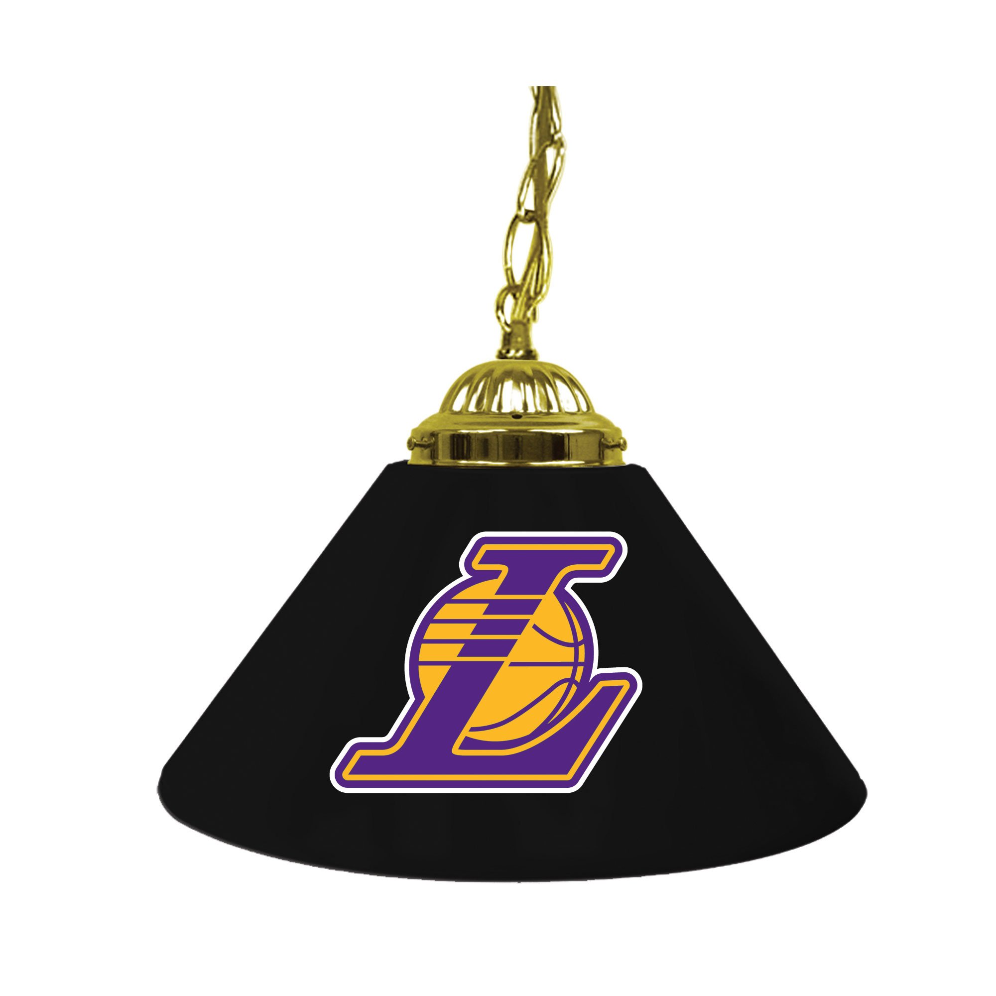 NBA Los Angeles Lakers Single Shade Gameroom Lamp, 14''