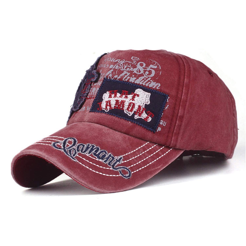 HiiWorld 2019 New Hat Brand Women Embroidered Flower Denim Cap Fashion Baseball Cap Topee