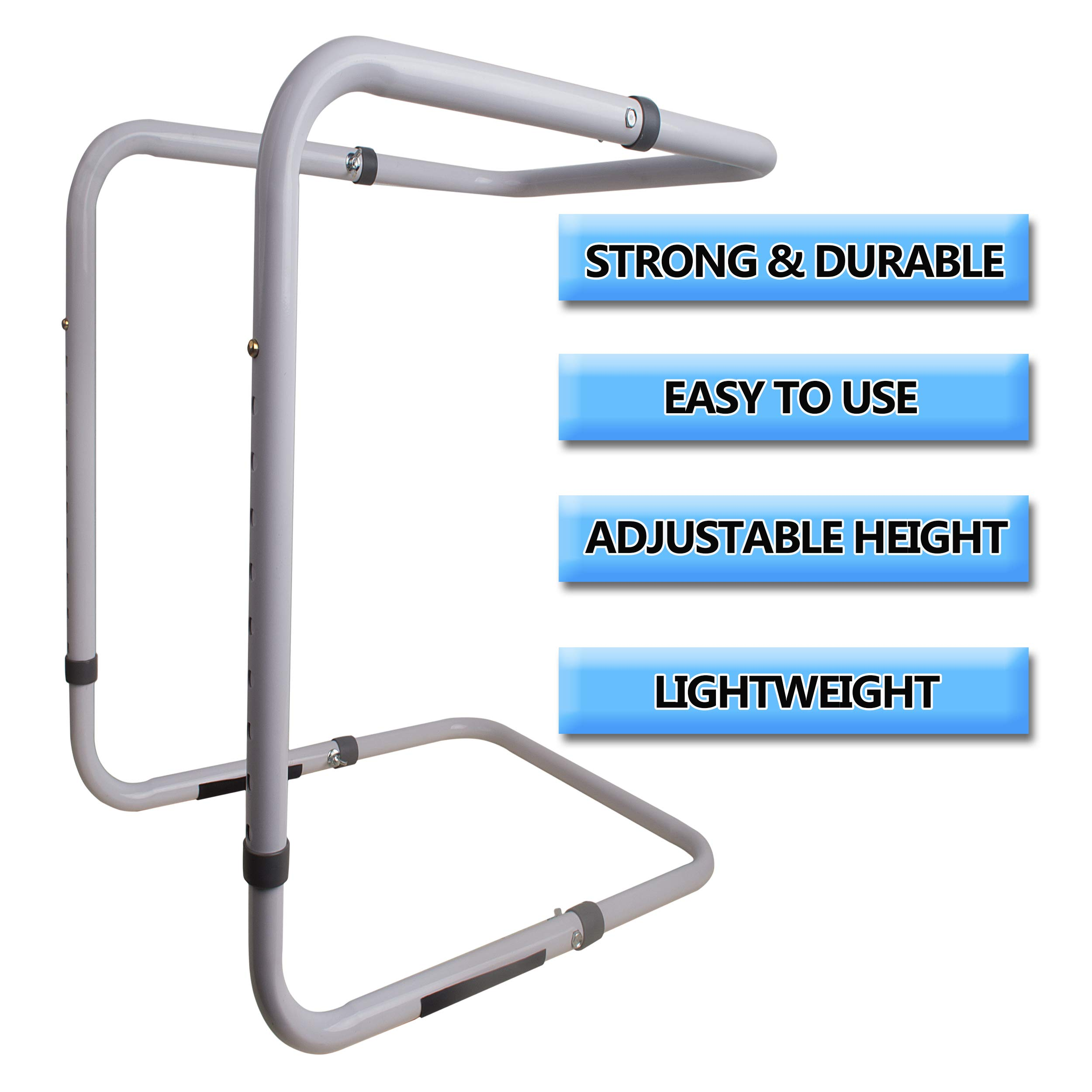 [Upgraded] Adjustable Heavy Duty Blanket Lifter - Blanket Cradle for Feet - Steel and Aluminum Lift Bar Support Frame on Bed for Neuropathy, Foot Cramp, Sensitive Feet, Surgery Recovery, Gout 20-28''