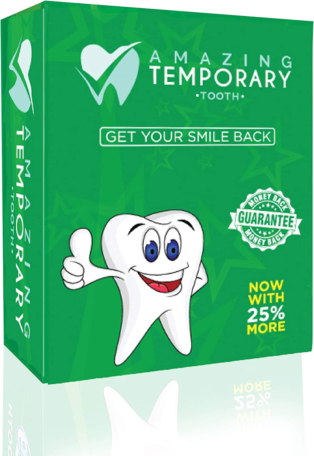 Amazing Temporary Missing Tooth Kit Replacement Temp Dental 25% More Than Others: Health & Personal Care