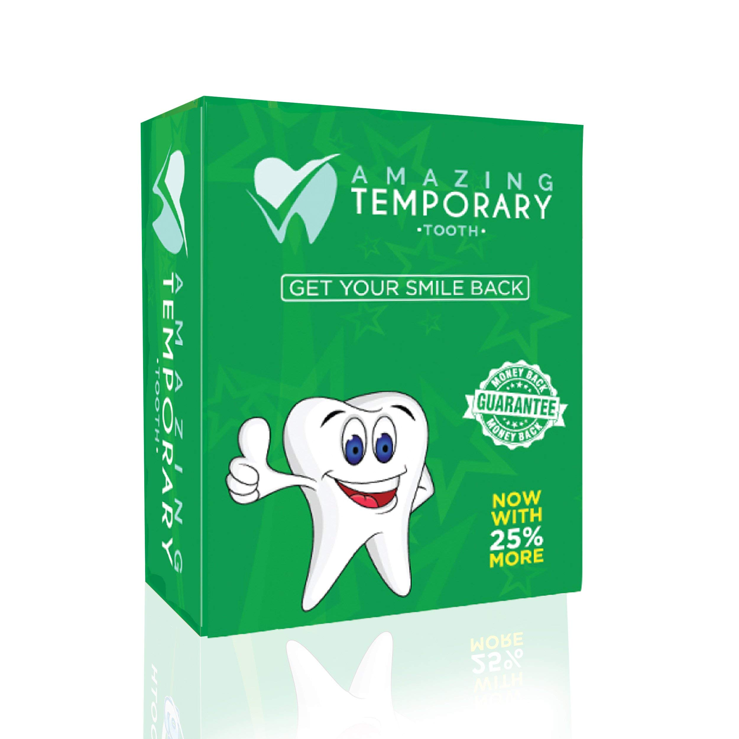 Amazing Temporary Missing Tooth Kit Replacement Temp Dental 25% More Than Others by Amazing Temporary Tooth