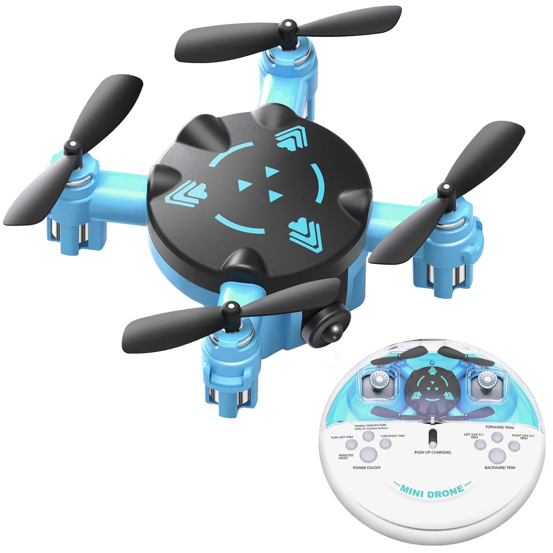 ミニドローン 子供にも大人にも ポケットRCクアッドコプター ヘッドレスモードと簡単充電デザイン 簡単インドア小型飛行ヘリコプタードローンおもちゃ 男の子にも女の子にも   B07QRF8XWW