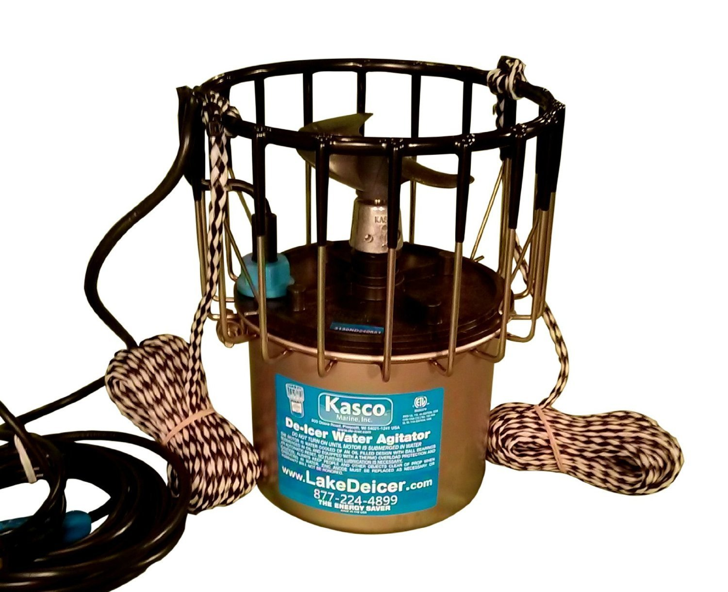 Kasco Marine 2400D025 - De-Icer, 1/2hp, 120 volts, Clears A Circle Up To 50' Diameter, 25' Cord by Kasco