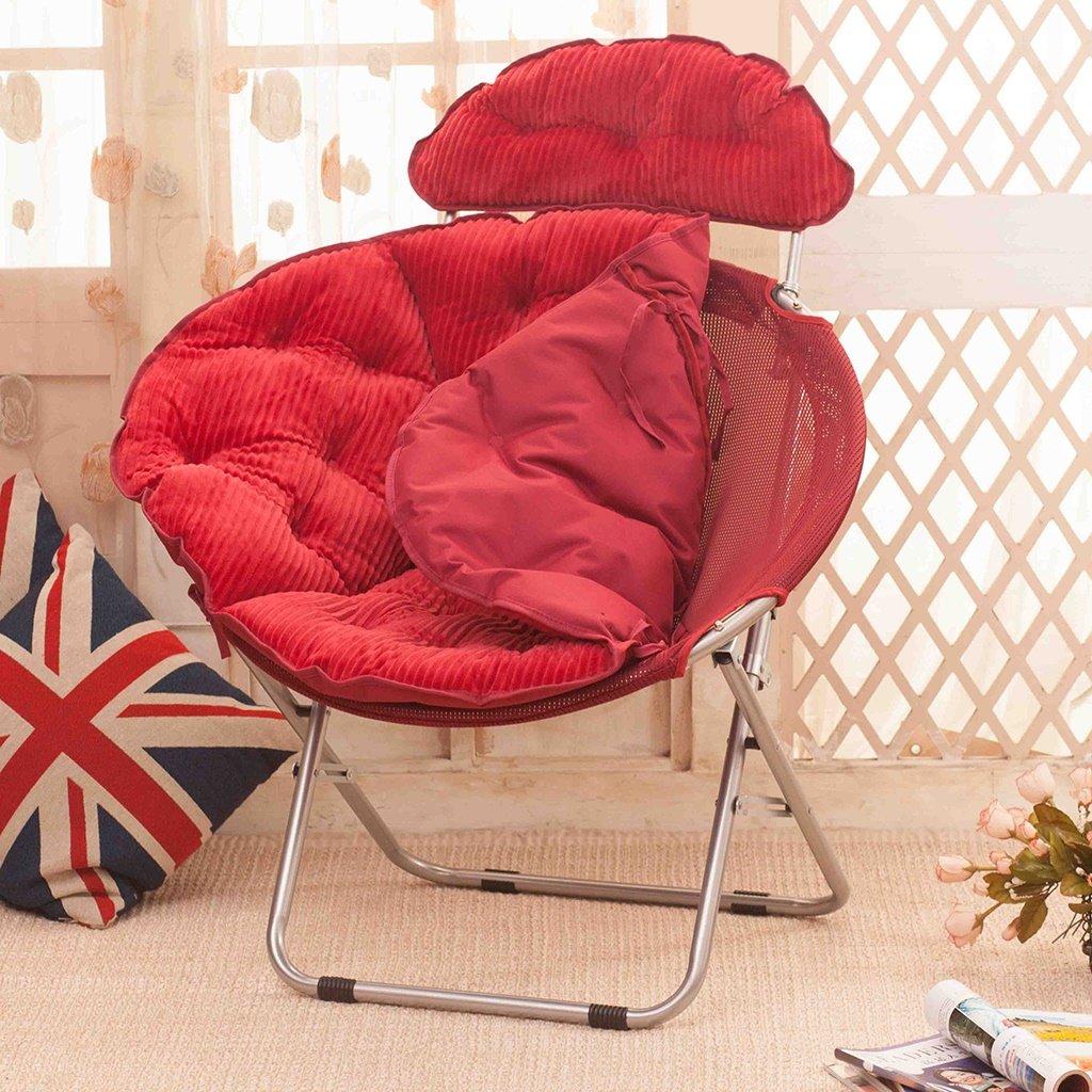LI JING SHOP - Fauteuil radar grand adulte à plateau pliant Home Lunch break Sofa chair ( Couleur : Rouge )