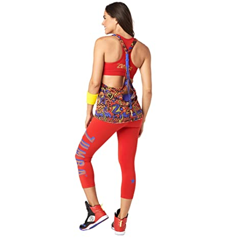 4238006e5ad139 Image Unavailable. Image not available for. Color  Zumba Women s Sexy Open  Back Breathable Workout Tank Top ...