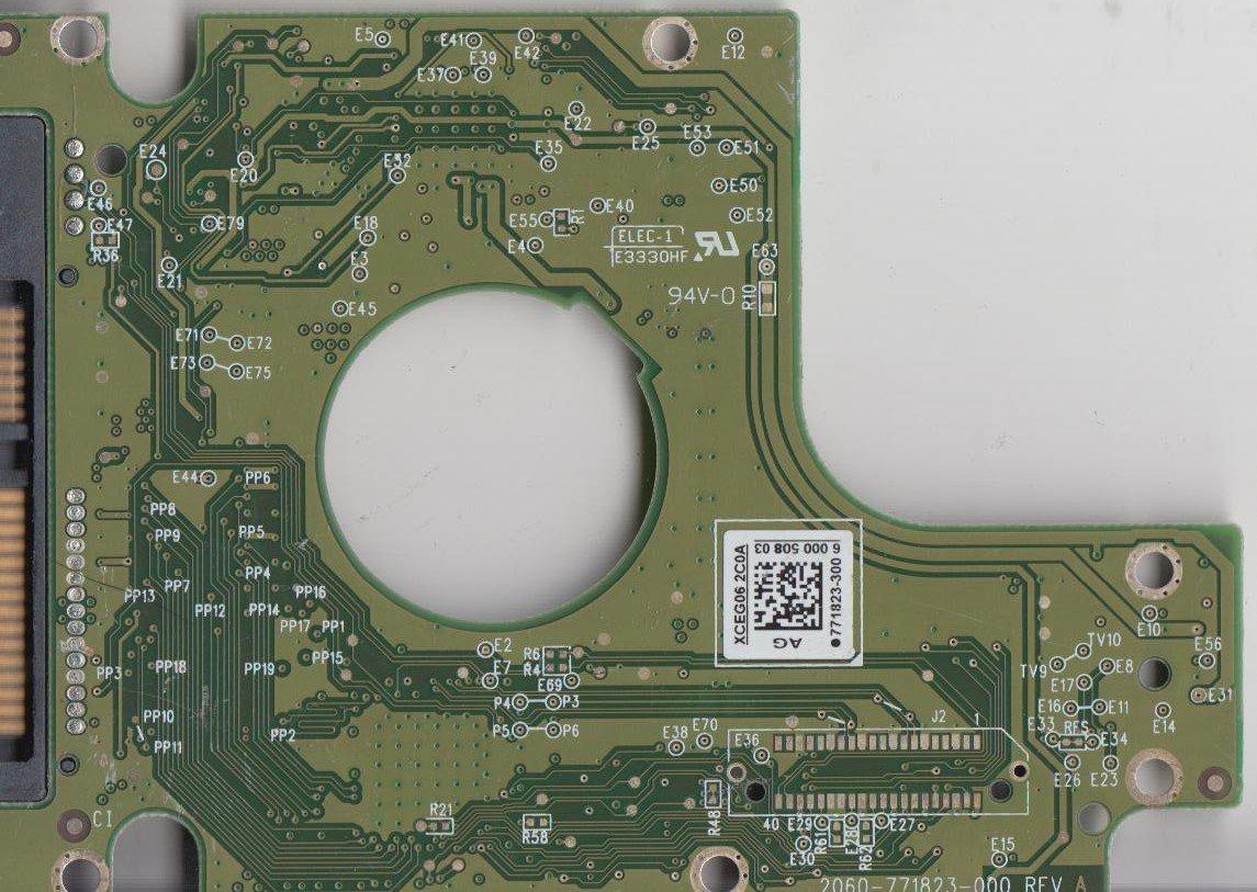 PCB 771823-300 AG WD10JPVT-00A1YT0 WD SATA 2.5 Leiterplatte