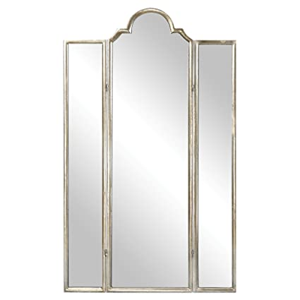 Amazon.com: Gorgeous Full Length Mirror Three Panel Arch Floor ...